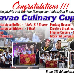 Congratulations! HRM Students and Teachers of UM Tagum College
